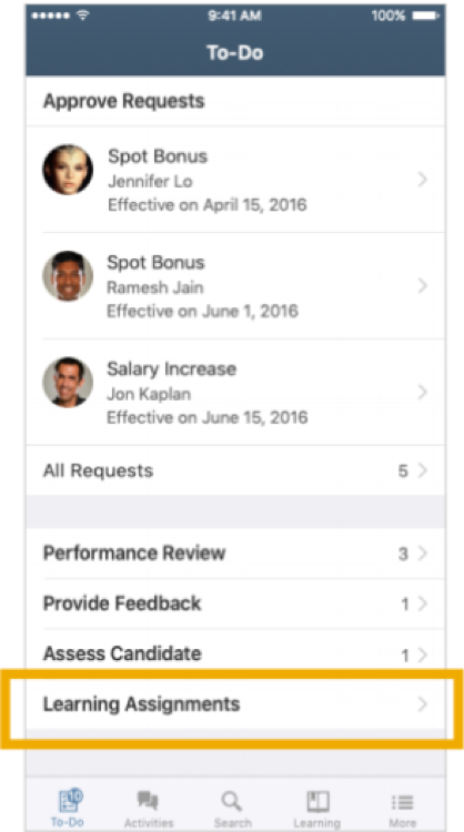 SAP SuccessFactors approval requests mobile release q1 2019