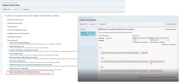 SAP SuccessFactors Q1 2019 release participant assignment