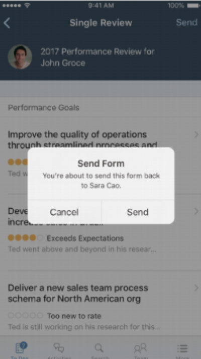SAP SuccessFactors Performance Mobile release q1 2019