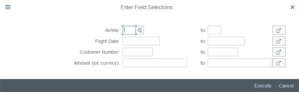 ABAP in SAP S/4HANA®: Dynamic Selection Screen with ALV IDA